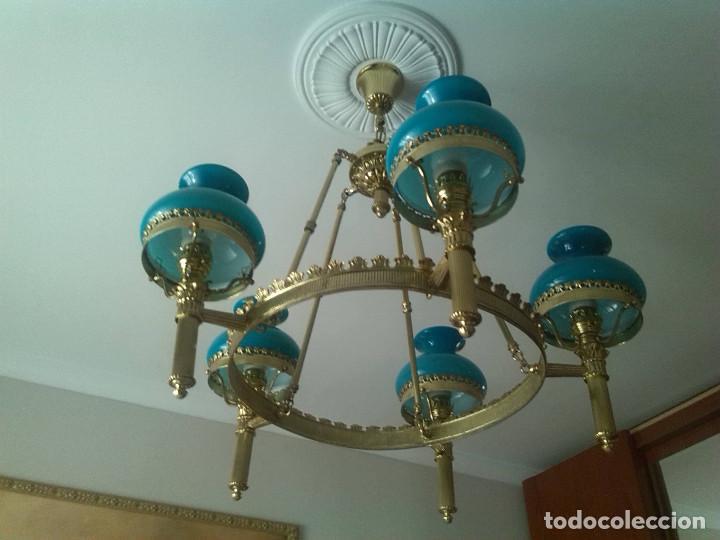 Preciosa l mpara de techo tipo quinqu tulipa comprar l mparas vintage apliques - Tipos de lamparas de techo ...
