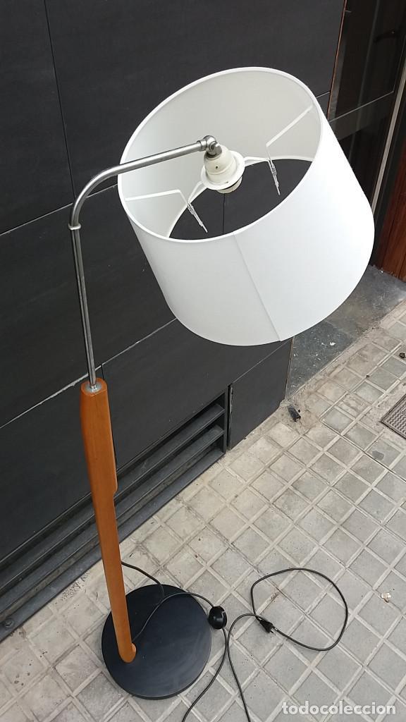 Vintage: Lámpara de pie años 70 madera y metal. Estilo Milà, Santa & Cole, Metalarte, Fase, Tramo.... - Foto 6 - 66183234