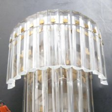 Vintage: BESTIAL LAMPARA VINTAGE APLIQUE ANTIGUA DE PARED CASCADA CRISTAL 3 PISOS MURANO VENINI 7 LUCES!!!. Lote 131762509