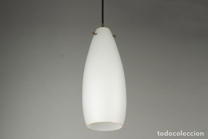 2 LAMPARA TECHO CRISTAL LATÓN VINTAGE RETRO AÑOS 60 (Vintage - Lámparas, Apliques, Candelabros y Faroles)