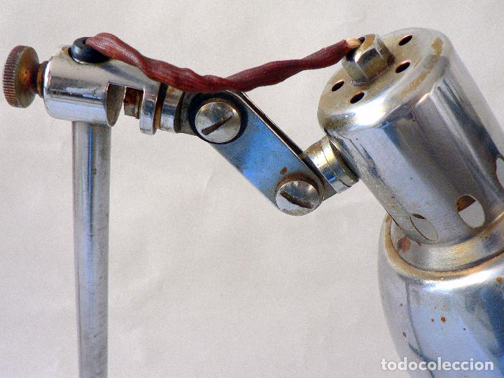 Vintage: LAMPARA DE SOBREMESA CLINICA O INDUSTRIAL AÑOS 50 60 - Foto 2 - 68019457
