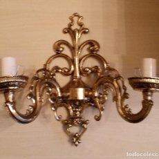 Vintage: ANTIGUA LAMPARA EN METAL LABRADO (AÑOS 50). Lote 68238097