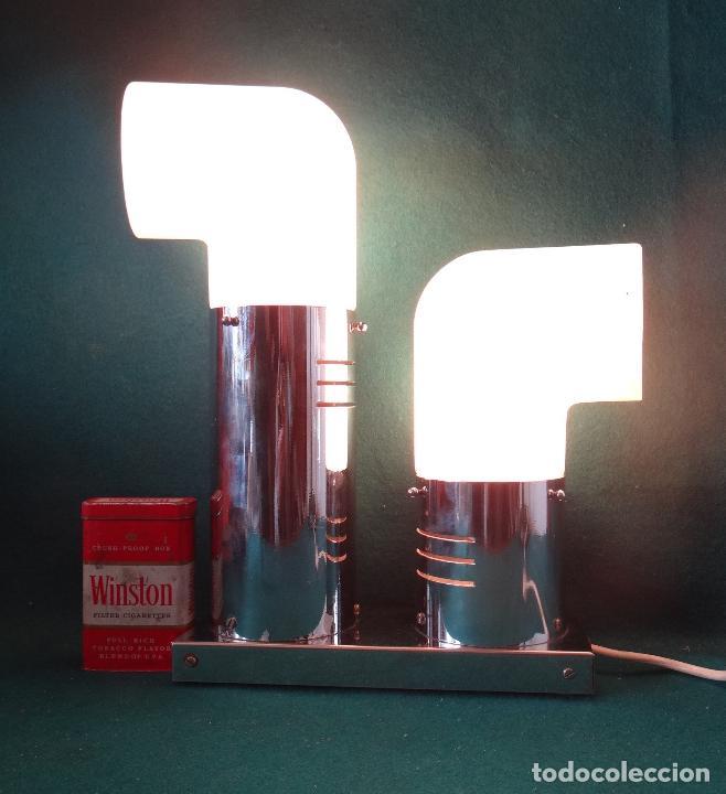 Vintage: LAMPARA CROMADA MESA VINTAGE. DISEÑO 1970. SPACE AGE. FUNCIONAMIENTO. - Foto 19 - 68247869