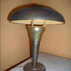 Vintage: LAMPARA DE SOBREMESA ART-DECO AÑOS 50 ORIGINAL ESTILO BOLET -SETA. Lote 68533877