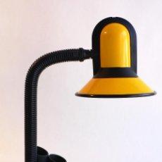 Vintage: LAMPARA FLEXO ESCRITORIO FASE PLASTICO Y ACERO COLOR AMARILLO. Lote 68946397
