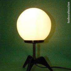 Vintage: GENIAL LAMPARA GLOBO VINTAGE TODO METAL SPACE AGE SPUTNIK COHETE MID CENTURY DESIGN STILNOVO ITALY. Lote 69948205