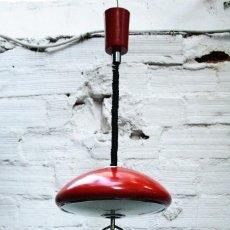 Vintage: LAMPARA FASE DE TECHO ROJA TRANSPORTE GRATIS COMUNIDAD DE MADRID. Lote 70031065