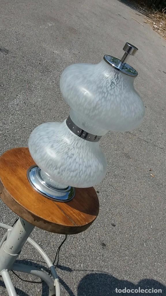 Vintage: Lámpara Mazzega Murano vintage años 50 60 70 Vetro Maculato Aldo Nason - Foto 2 - 70078433