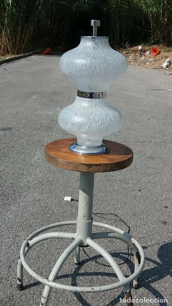 Vintage: Lámpara Mazzega Murano vintage años 50 60 70 Vetro Maculato Aldo Nason - Foto 7 - 70078433