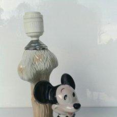 Vintage: MICKEY MOUSE ANTIGUA LÁMPARA PORCELANA PALÉS DE MANISES SELLADA WALT DISNEY. Lote 71776206