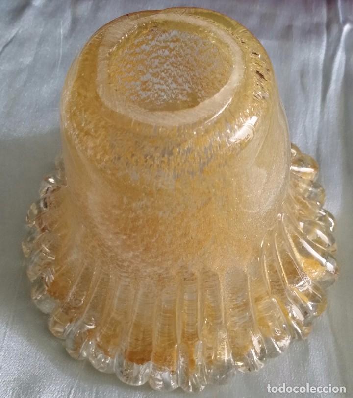 TULIPA DE CRISTAL DE MURANO (Vintage - Lámparas, Apliques, Candelabros y Faroles)