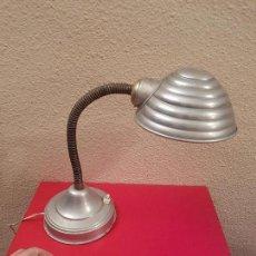 Vintage: ANTIGUA LAMPARA FLEXO VINTAGE RETRO INDUSTRIAL ALUMINIO DE MESA TRABAJO DECORACION ANTIGUO. Lote 73050083