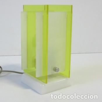 Vintage: Lampara vintage de mesa de plástico y acrílico. 1960 - 1970 (BRD) - Foto 3 - 73340123