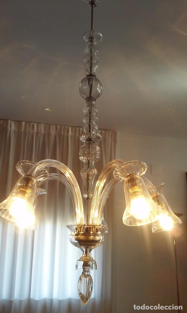Vintage: Lámpara techo cristal - Foto 2 - 73594831
