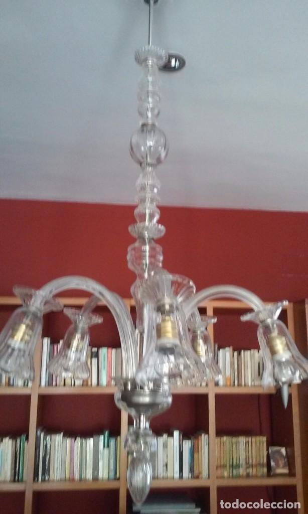 Vintage: Lámpara techo cristal - Foto 3 - 73594831