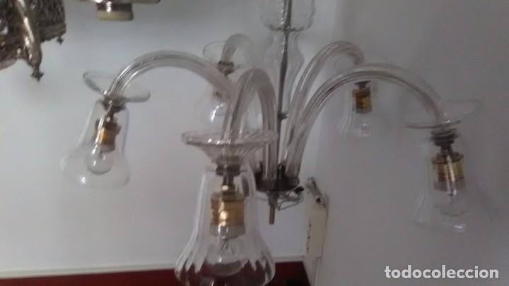 Vintage: Lámpara techo cristal - Foto 5 - 73594831
