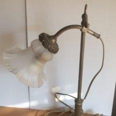 Vintage: LAMPARA AÑOS 30-40. TULIPA CRISTAL OPACO.. Lote 73998294
