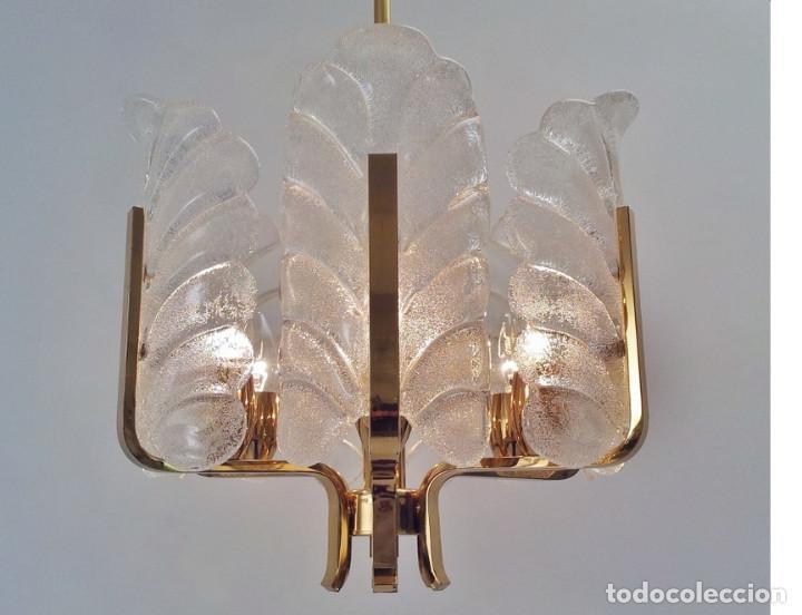 Vintage: GRAN Lámpara vintage años 50 60. Carl Fagerlund para Orrefors. Cristal y latón dorado. Espectacular. - Foto 2 - 74264495