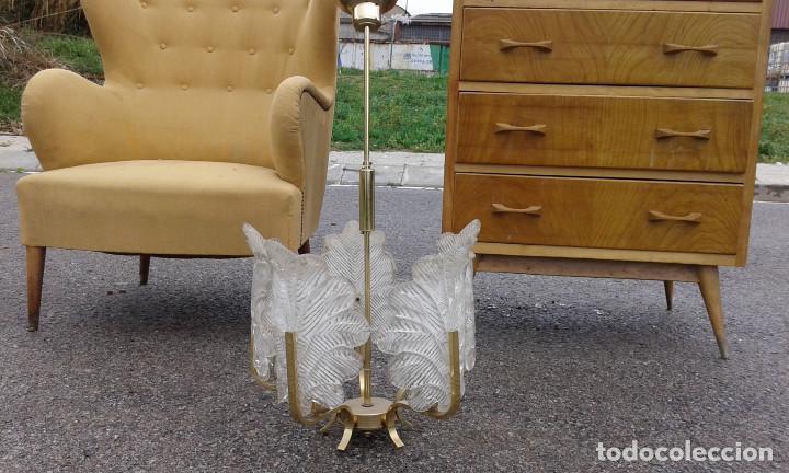 Vintage: GRAN Lámpara vintage años 50 60. Carl Fagerlund para Orrefors. Cristal y latón dorado. Espectacular. - Foto 6 - 74264495