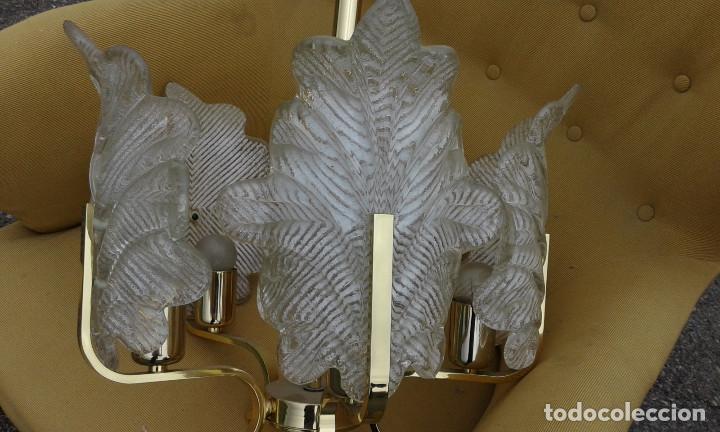 Vintage: GRAN Lámpara vintage años 50 60. Carl Fagerlund para Orrefors. Cristal y latón dorado. Espectacular. - Foto 8 - 74264495