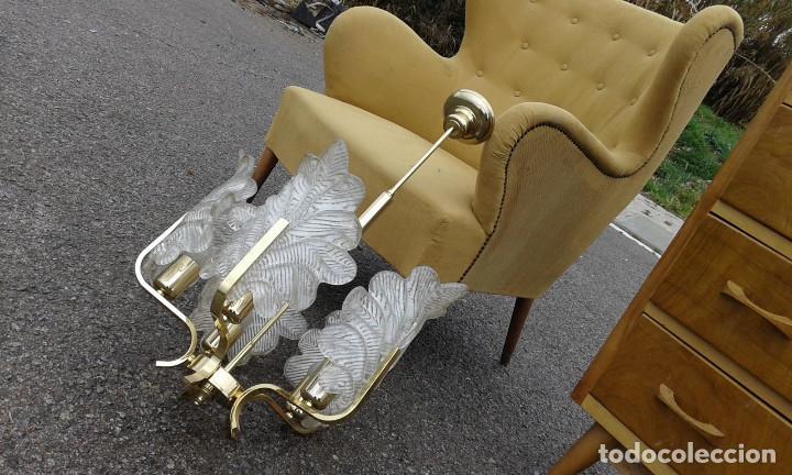 Vintage: GRAN Lámpara vintage años 50 60. Carl Fagerlund para Orrefors. Cristal y latón dorado. Espectacular. - Foto 10 - 74264495