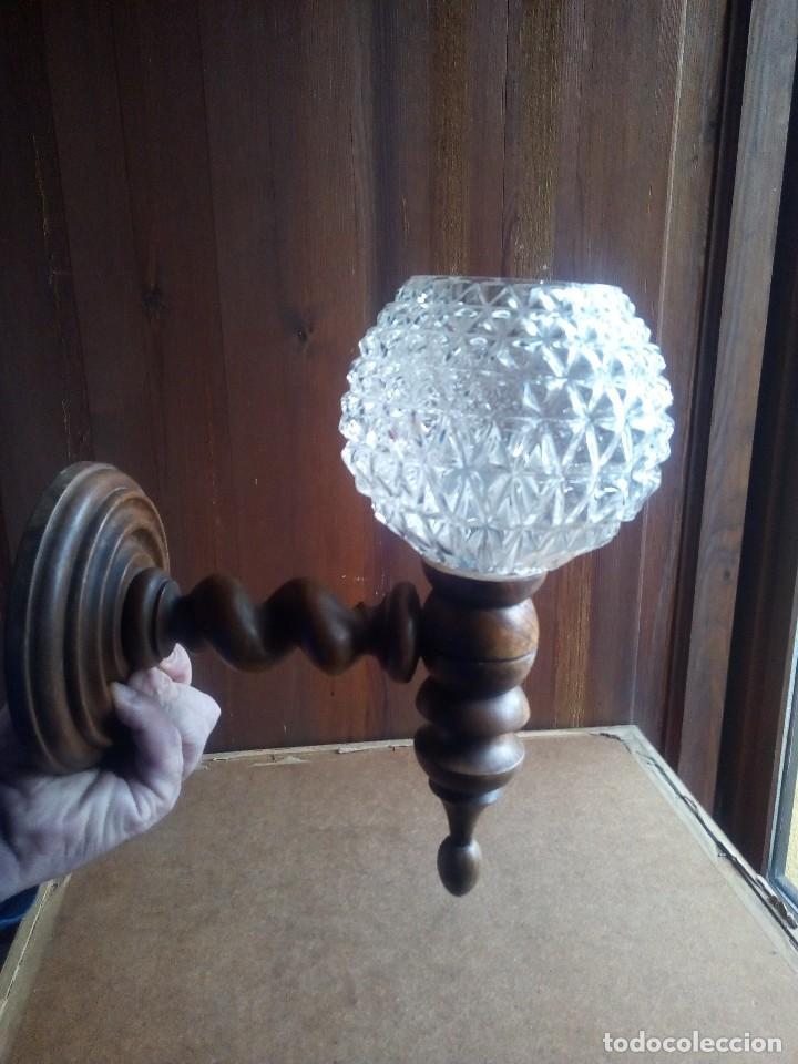LAMPARA - APLIQUE - GLOBO . (Vintage - Lámparas, Apliques, Candelabros y Faroles)