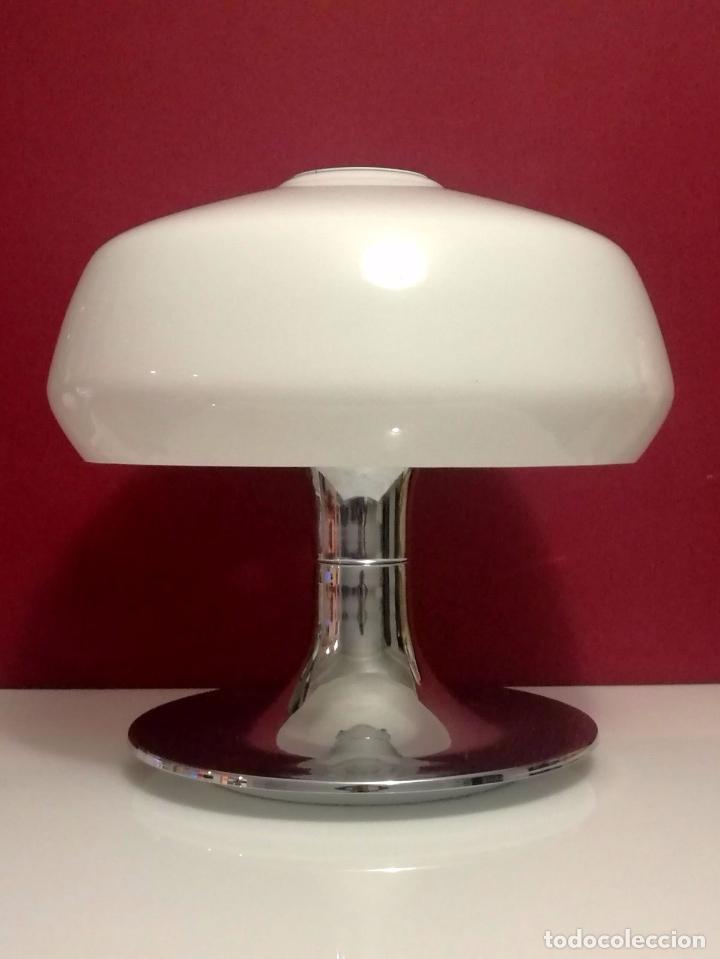 ESPECTACULAR Y EXCLUSIVA LAMPARA DE SETA SPACE AGE - DISEÑADA POR MIGUEL MILA - PRODUCIDA POR TRAMO (Vintage - Lámparas, Apliques, Candelabros y Faroles)