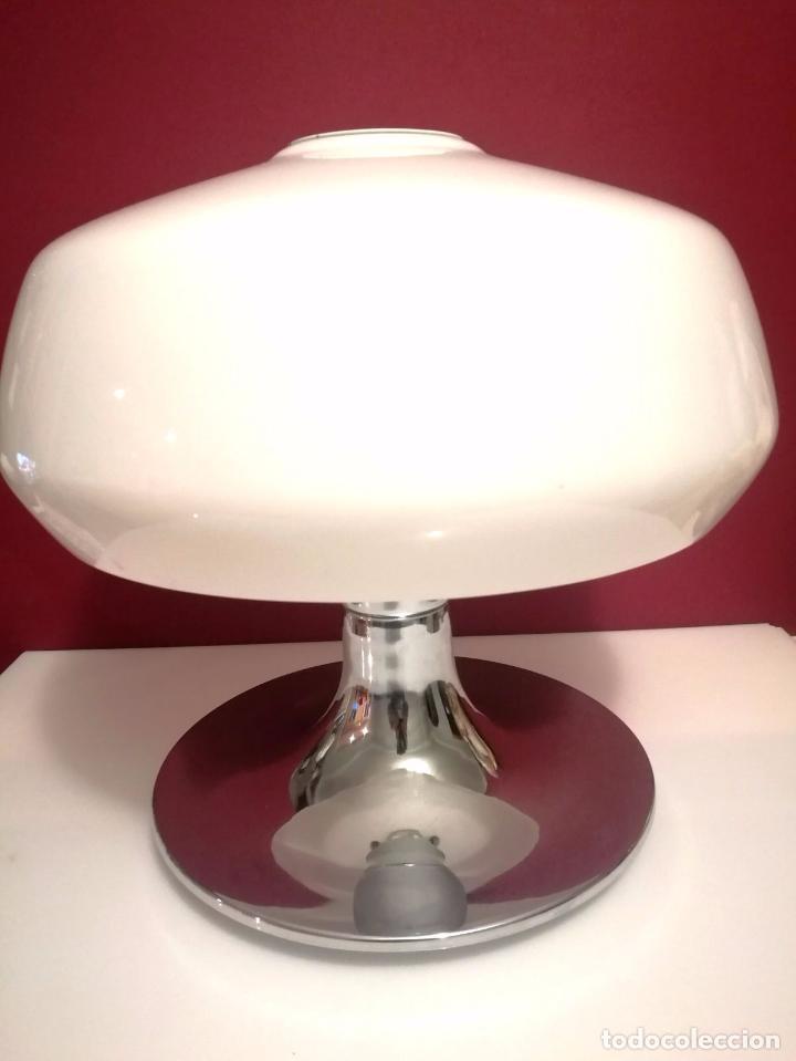 Vintage: Espectacular y exclusiva Lampara de seta Space Age - Diseñada por Miguel Mila - Producida por Tramo - Foto 3 - 75258383