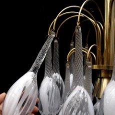 Vintage: ! LAMPARA VIP XXL VINTAGE CASCADA METAL ORO CON ENORMES GOTAS MACIZAS EN CRISTAL DE MURANO VENINI. Lote 75571327
