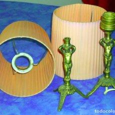 Vintage: 2 PIES LÁMPARAS DE MESA QUERUBINES METAL. Lote 76458739