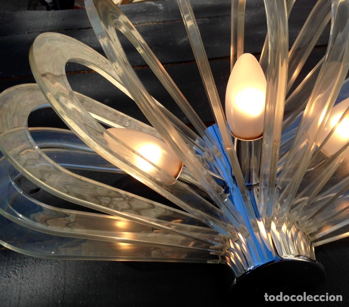Vintage: Lámpara, aplique ufo - Foto 3 - 76980286