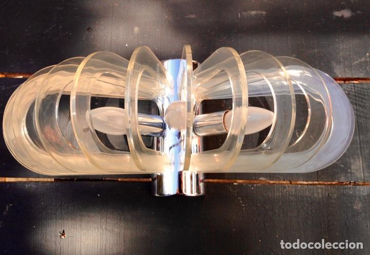 Vintage: Lámpara, aplique ufo - Foto 4 - 76980286