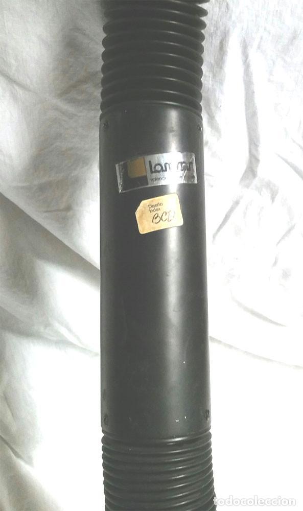Vintage: Lampara flexo Lamsar Valencia Diseño Index años 70, color negro, funciona, vintage. Med 95 cm - Foto 5 - 77252137