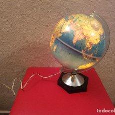 Vintage: ANTIGUA LAMPARA MAPAMUNDI BOLA TERRAQUEO GLOBO DEL MUNDO AÑOS 70 SALVAT NOVARO. Lote 77925693