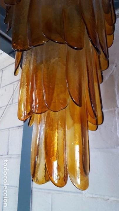 Vintage: Lámpara chandelier de cristal de Murano, atribuida a Mazzega,, vintage 70s. - Foto 3 - 78208957