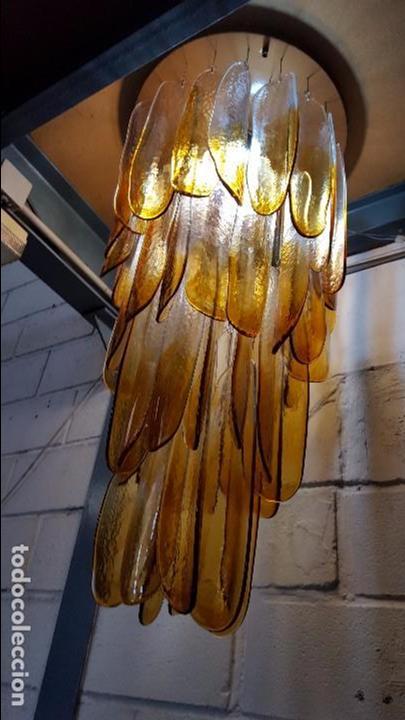 Vintage: Lámpara chandelier de cristal de Murano, atribuida a Mazzega,, vintage 70s. - Foto 9 - 78208957