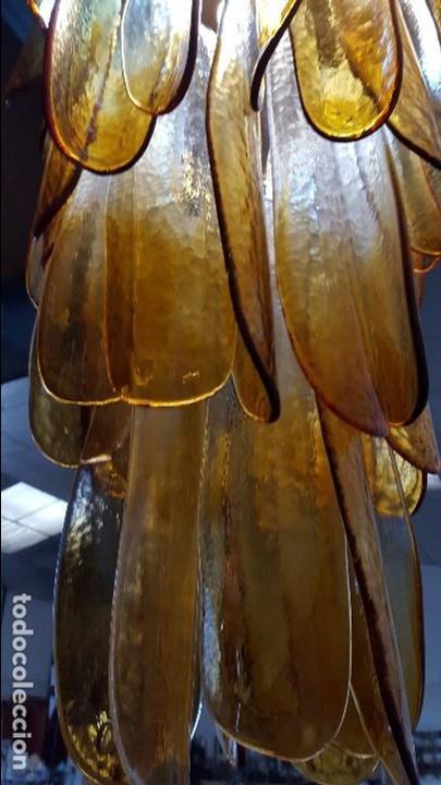 Vintage: Lámpara chandelier de cristal de Murano, atribuida a Mazzega,, vintage 70s. - Foto 10 - 78208957