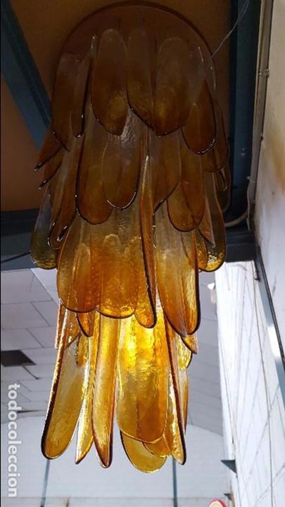 Vintage: Lámpara chandelier de cristal de Murano, atribuida a Mazzega,, vintage 70s. - Foto 14 - 78208957