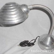 Vintage: ANTIGUO FLEXO PARA ESCRITORIO DE ALUMINIO. Lote 78448365