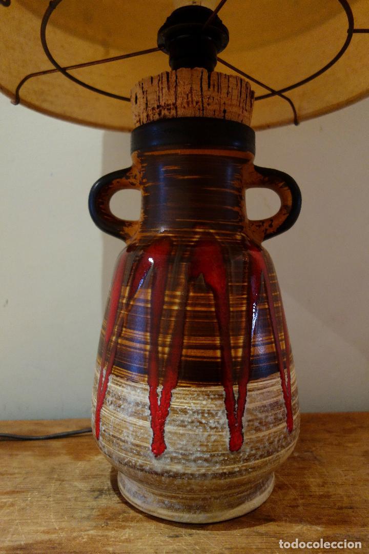 Occidental pie Alemania antigua Lava cerámica Fat vintage 60 Lámpara años de wXn0O8kP