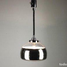 Vintage: LAMPARA TECHO CROMADA SUBE Y BAJA UFO SPACE AGE VINTAGE 70'S RETRO. Lote 79751265