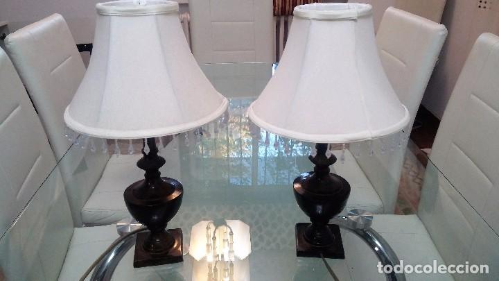 pareja de lamparas de mesilla de noche vintage lmparas apliques candelabros y - Lamparas De Mesilla De Noche