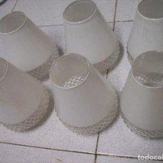 Vintage: 6 TULIPAS CRISTAL PARA LAMPARA. AÑOS 60. Lote 80871635
