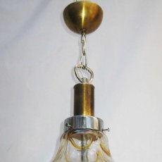 Vintage: LAMPARA VINTAGE MURANO MAZZEGA AÑOS 70 DISEÑO ESTILO WILLY RIZZO, ROMEO REGA O JANSEN. Lote 82213000