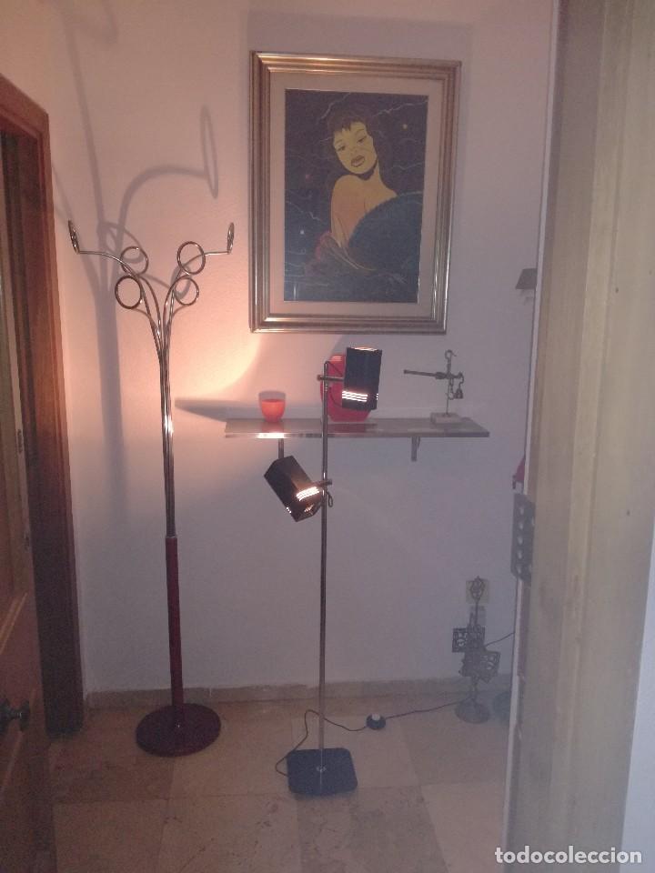 PRECIOSA LAMPARA FASE DE PIE CON DOS FOCOS, VINTAGE RETRO, SPACE AGE. (Vintage - Lámparas, Apliques, Candelabros y Faroles)