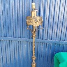 Vintage: LAMPARA DE PIE DE HIERRO. Lote 83176868