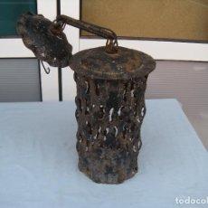 Vintage: LÁMPARA DE FORJA. Lote 83739960