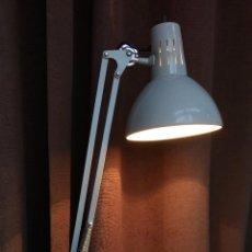 Vintage: LAMPARA FASE FLEXO ARQUITECTURA AZUL VINTAGE INDUSTRIAL RETRO SPACE AGE ESPAÑA 60S. Lote 83792888