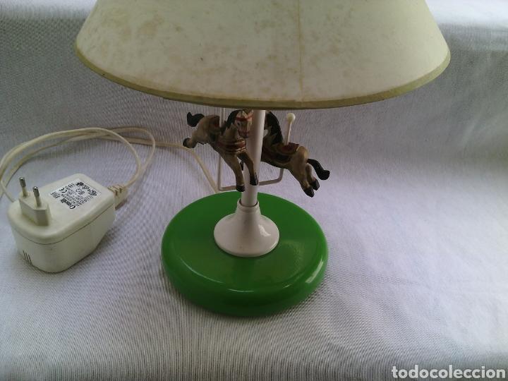 Vintage: LAMPARA SOBREMESA METAL INFANTIL CARRUSEL FERIA.VINTAGE. - Foto 3 - 83736183