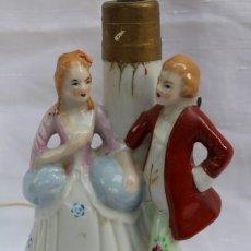 Vintage: LAMPARA VINTAGE PAREJA DE ENAMORADOS EN PORCELANA ALEMANA?. Lote 84957800